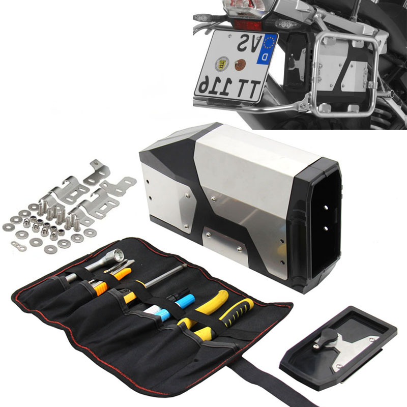 Capacity of Decorative Aluminum Box Toolbox Suitable for BMW R1200GS LC Adventure Water cooled 04 17