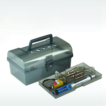 plastic tool box with handle, tray, compartment, storage and