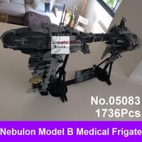 LEPIN 05083 1736Pcs Star Series War MOC The Nebulon Model B Set Medical Frigate Children Building
