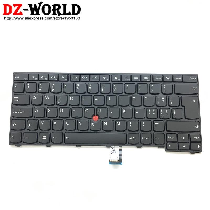 New/Orig for Thinkpad T440 T440S T431S T440P T450 T450S T460 Backlit Keyboard Swiss Teclado 00HW864 04X0128 04X0166 SN20G54723 new original for lenovo thinkpad l440 l450 t440 t440p t431s t440s t450 t450s t460 us english keyboard no backlit 04y0824 04y0862