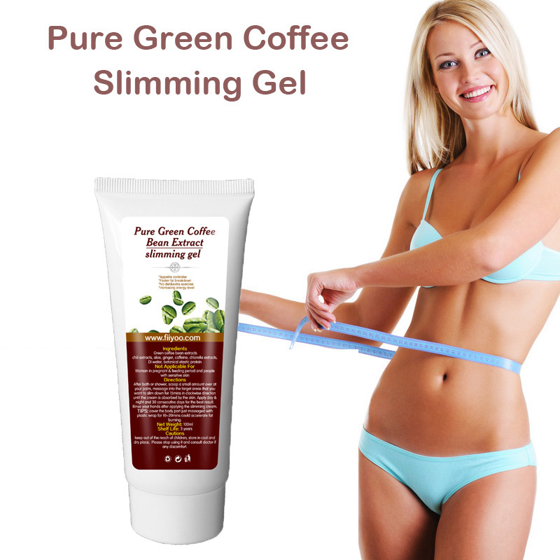 (One tube supply) FiiYoo pure green coffee bean extract weight loss cream, fat loss slimming gel burn fat for men & women