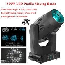 4 шт/лот led 550 Вт светодиодный профиль движущийся головной