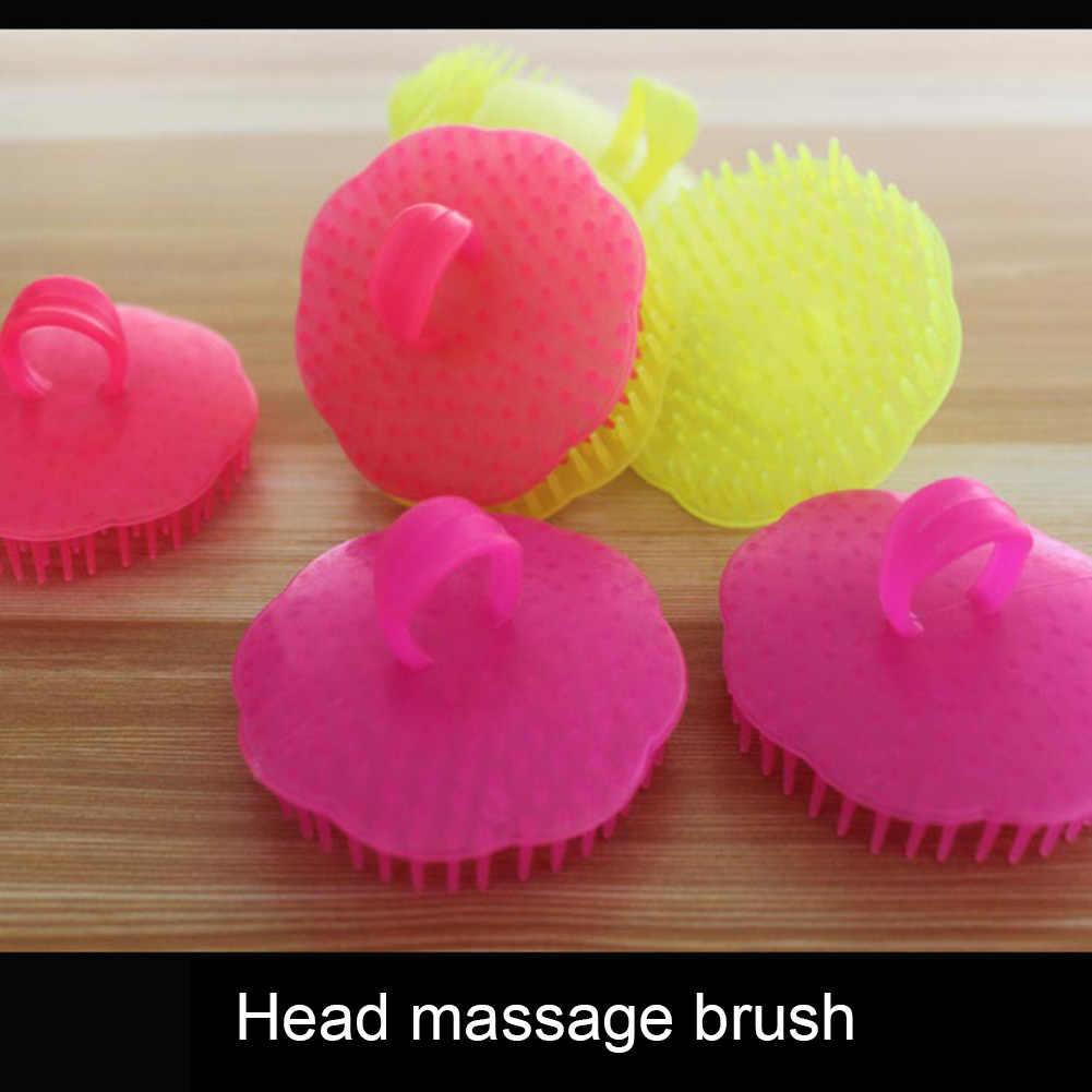 Горячая 2 шт./компл. щетка для мытья волос мягкая голова массажёр кожи головы Ванна здоровый массажный гребешок для мытья волос SJ66