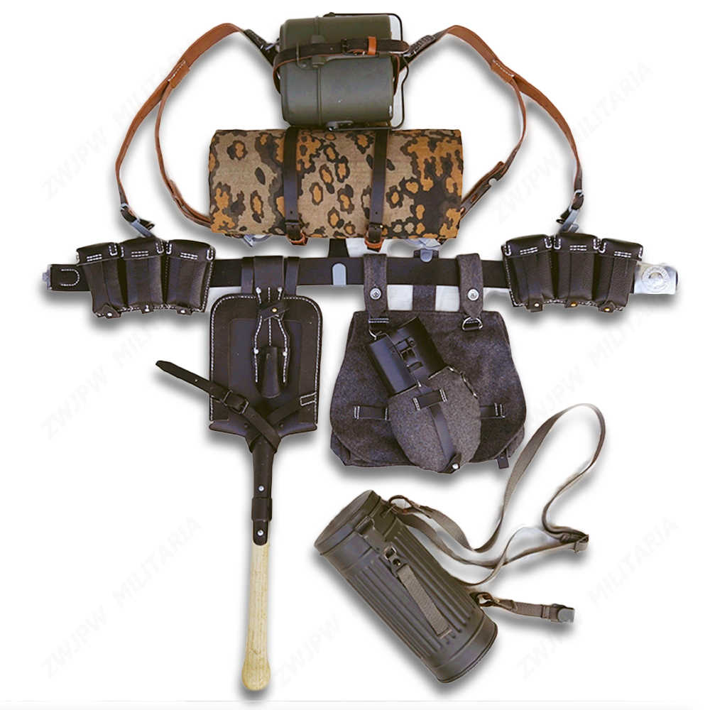 WWII WW2 GERMAN ARMY ELITE GERMAN EQUIPMENT 98K POUCH BAG FIELD GEAR  PACKAGE EQUIPMENT COMBINATION - World military Store