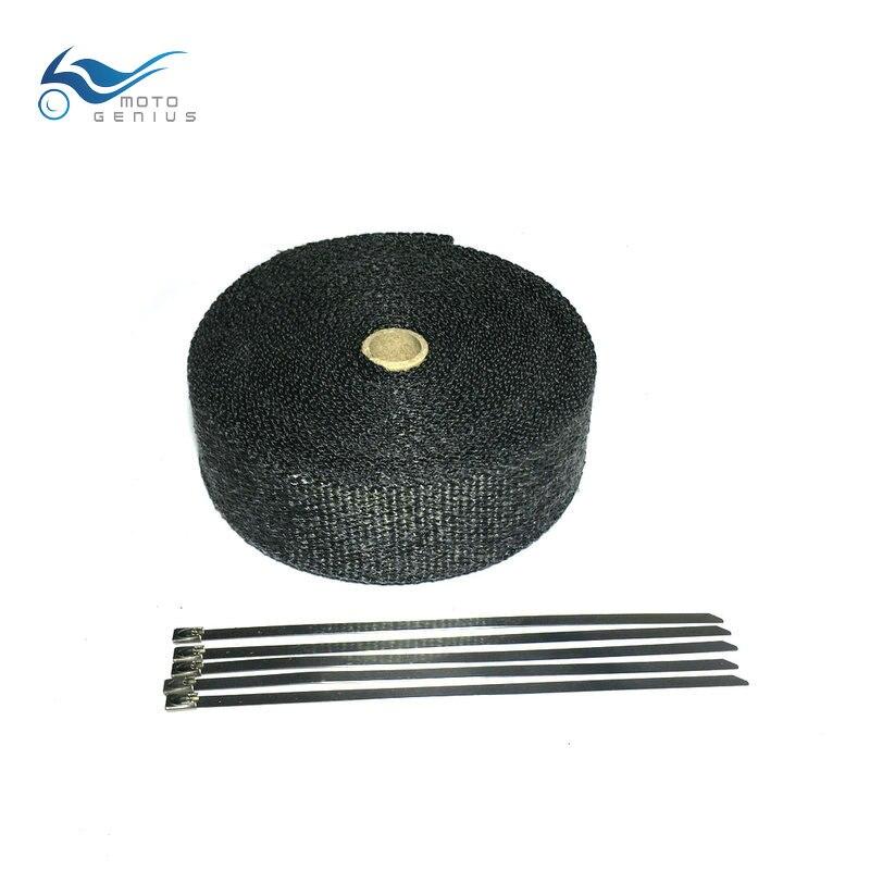 10 m Black Motorcycle Exhaust Pipe Wrap Exhaust Muffler Manifold Heat Shield Wrap Exhaust Tape