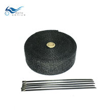 10mm Black Motorcycle Exhaust Pipe Wrap Muffler Manifold Heat Shield Tape