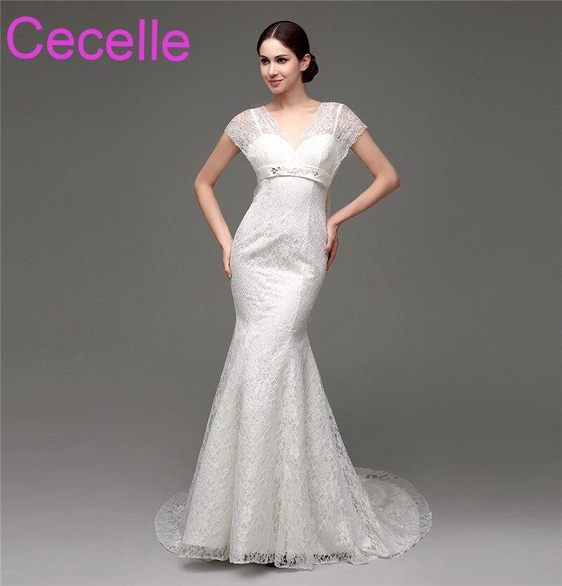 Mermaid Lace Long Wedding Dresses 2018 Sleeveless V neck Corset Back Boho Women Informal Country Western Bridal Gowns Custom