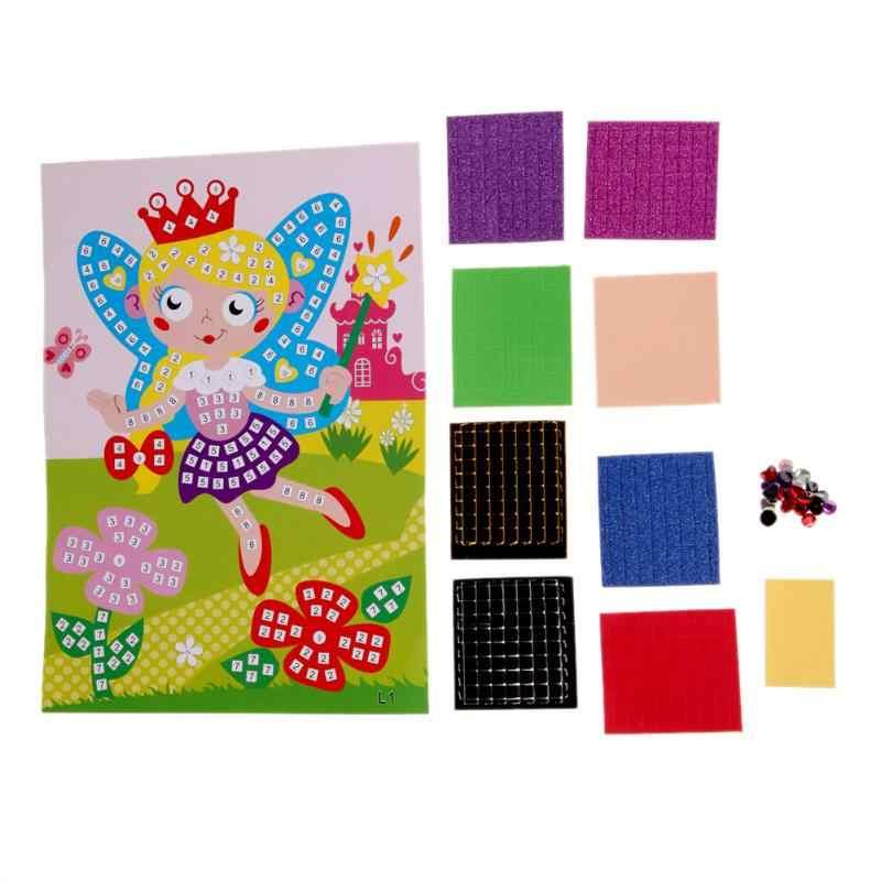3D الكريستال الفسيفساء الملونة الفن الأميرة و الفراشات ملصقا لعبة كرافت الفن ملصق الفتاة عيد ميلاد هدايا Soutoys ل مدرسية