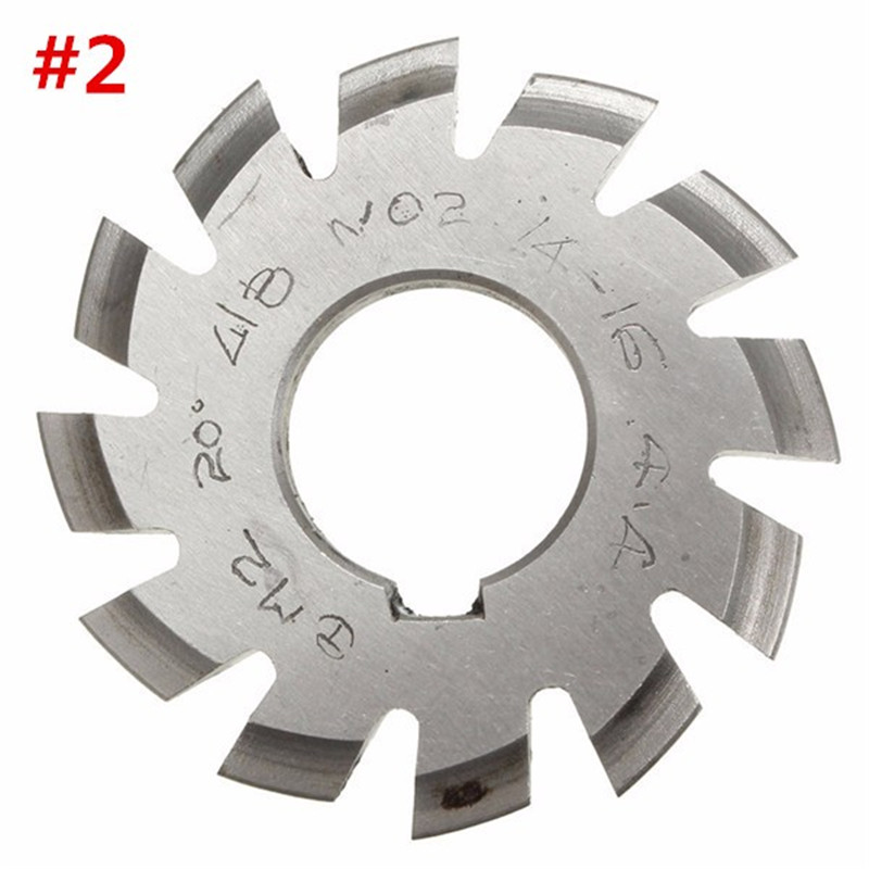 Diameter 22mm M2 20 Degree #2 Involute Module Gear Cutters HSS High Speed Steel NEW Machine Tools Accessories