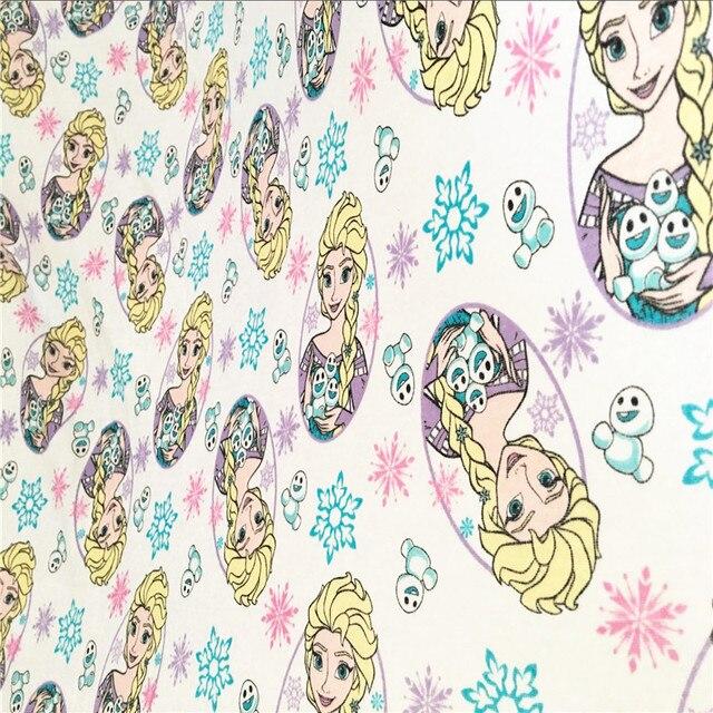 36d411f0b57 NOUVEAU coton tricoté tissus imprimés Patchwork de Bande Dessinée Elsa  conception DIY vêtements manteau matériel robe
