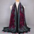 2016 Popukar кистями женщин printe цветочный мода вискоза платки пляж wrap длинный мусульманин летом хиджаб шарфы/шарф 10 шт./лот