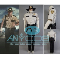 The Walking Dead Sheriff Rick Grimes Zombie Uniform Cosplay Costume Halloween Party Free Shipping
