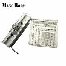 29 unids Universal Directo Calefacción Plantillas Plantillas de BGA + Reballing Jig Para Chip de Reparación De Soldadura Kit maxgboom
