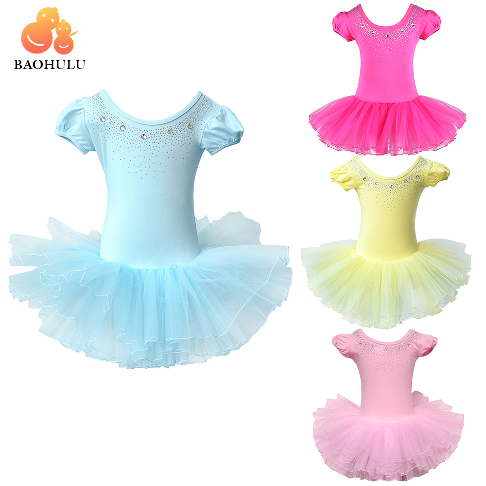 Red White Yellow Pink Green Blue Girls Tutu Leotards Ballet Dance Shows Age 3-8