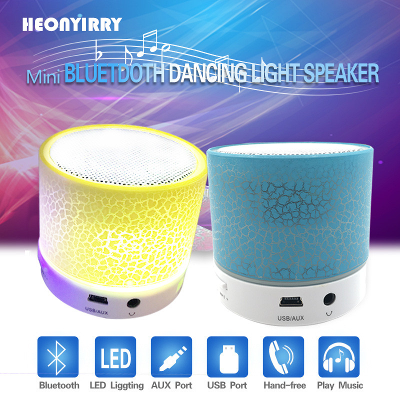 Portable Wireless Small LED Bluetooth Speakers Mini Music Audio TF USB FM Light Stereo Sound Speaker For Phone Xiaomi with Mic