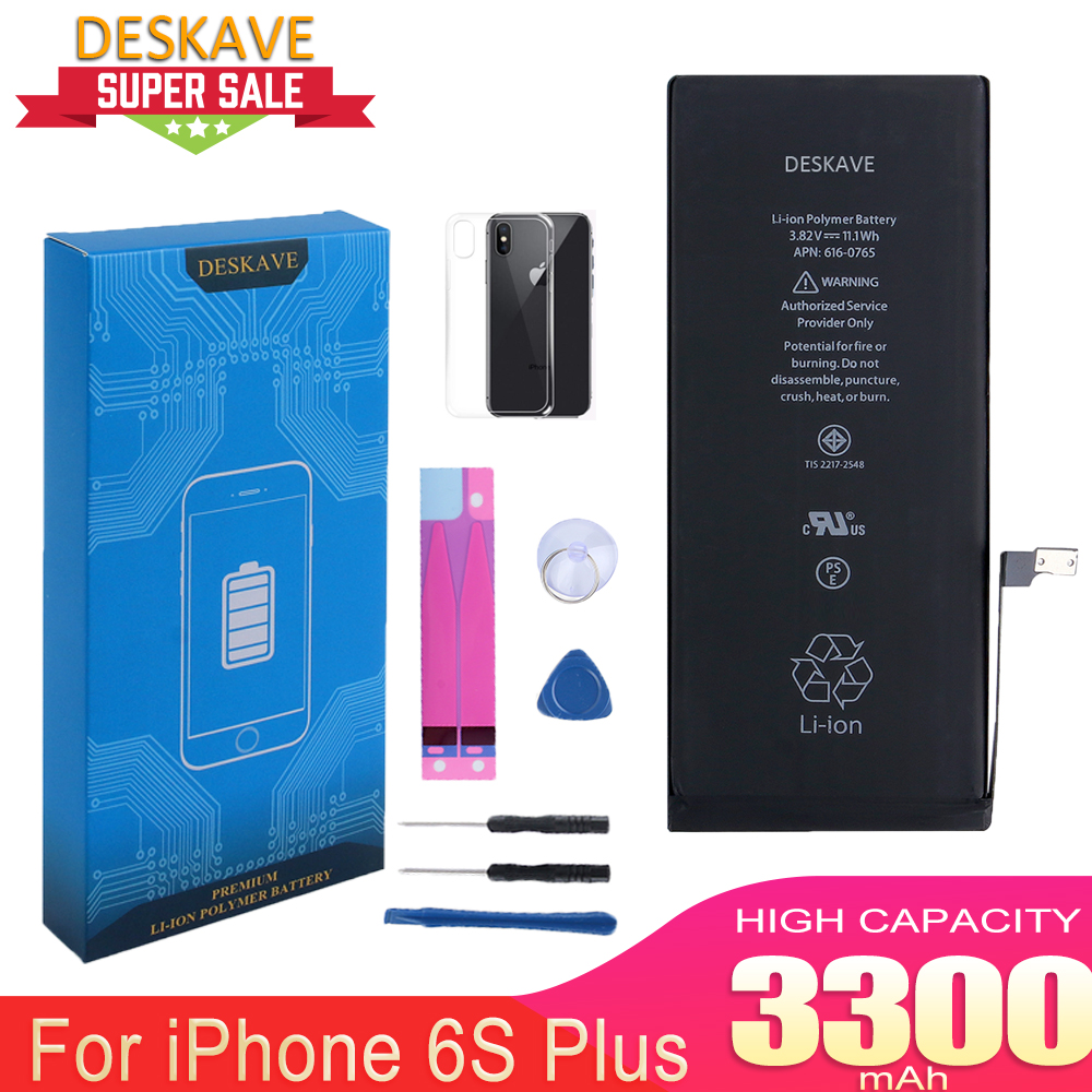 Phone Bateria for iphone 6Plus 6S Plus Battery 3300mAh A1549 1688 Replacement Battery AAAAA Quality Free tool kit Real Capacity in Mobile Phone Batteries from Cellphones Telecommunications