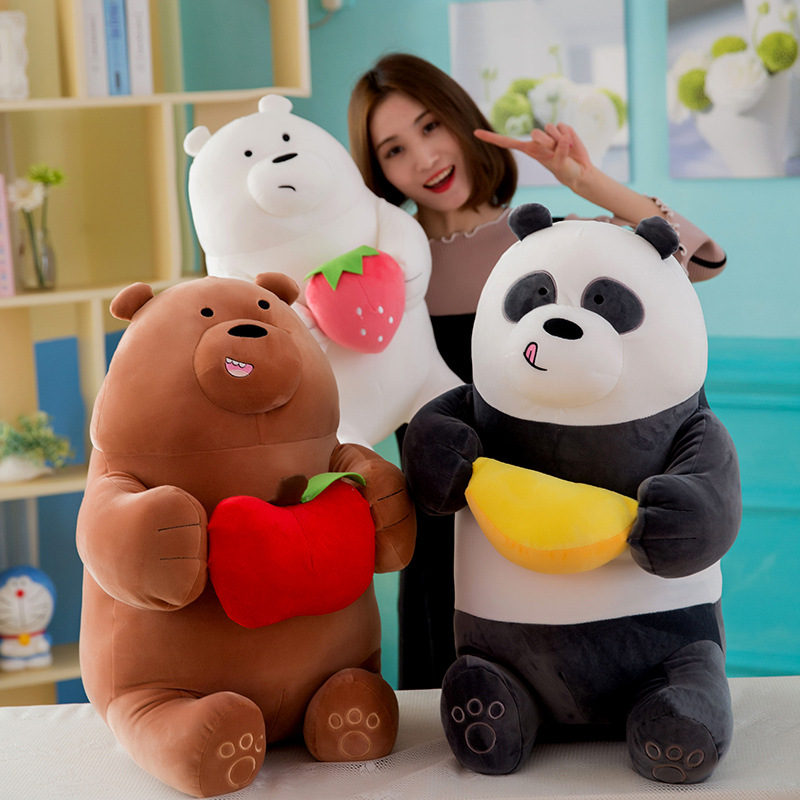 1pcs Large We Bare bears Cartoon Bear grizzly gray white bear panda stuffed plush toy Animal dolls Girls birthday gift kids toy stuffed animal 40cm gray koala bear plush toy soft mother