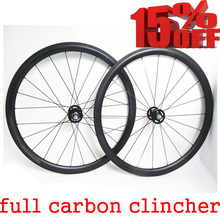 32 holes track fixed gear single speed 700C carbon bicycle 38mm deep clincher bike wheels 700C