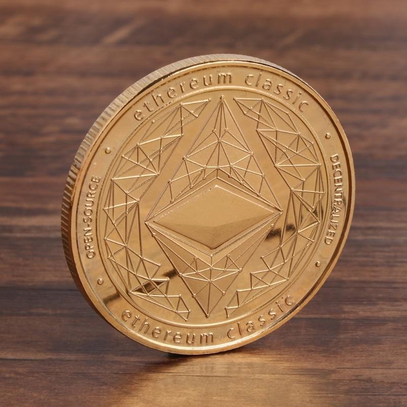 2019 Mode Gedenkmünze Btc Sammlung Kunst Legierung Nachahmung Ethereum Eth Bitcoin Geschenke