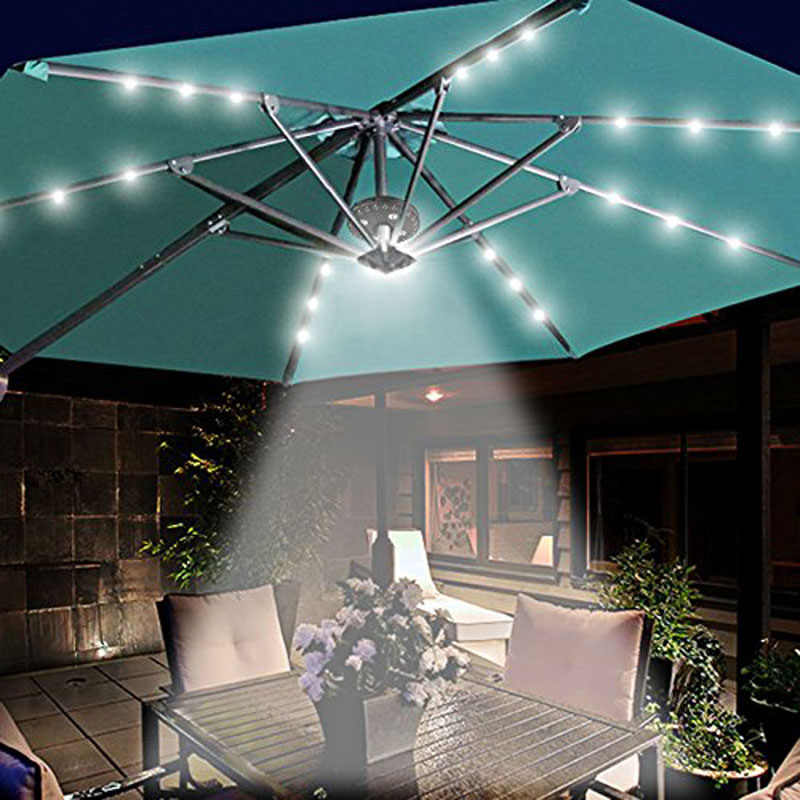 Patio Umbrella Light 3 Brightness Modes Cordless 28 Led