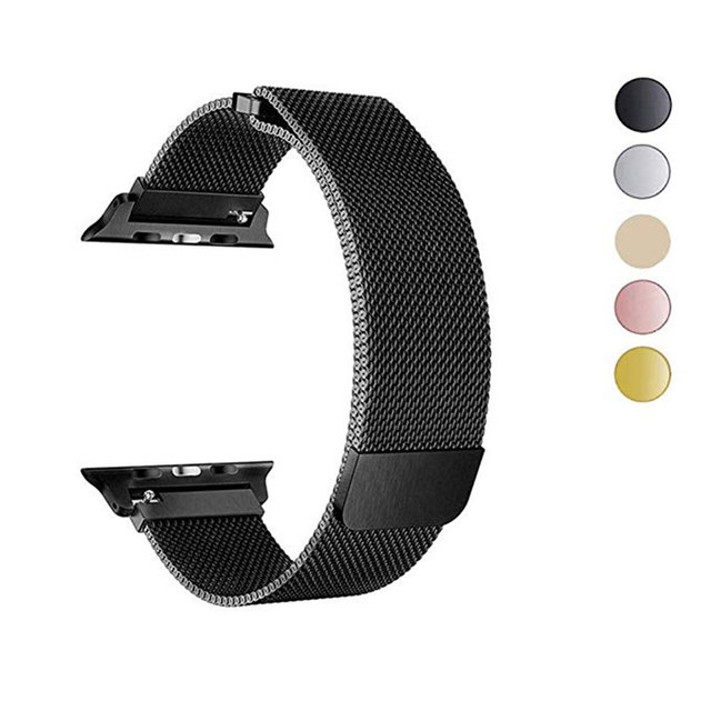 Миланская петля браслет для Apple Watch Series 4 40 мм 44 мм ремешок из нержавеющей стали для iwatch 3 полосы серии 2/1 38 мм 42 мм