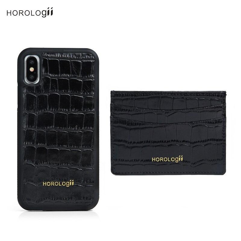 Horologii Mein benutzerdefinierte fall initialen handy fällen für iphone 10 11 Pro Max echt leder zubehör dropship service