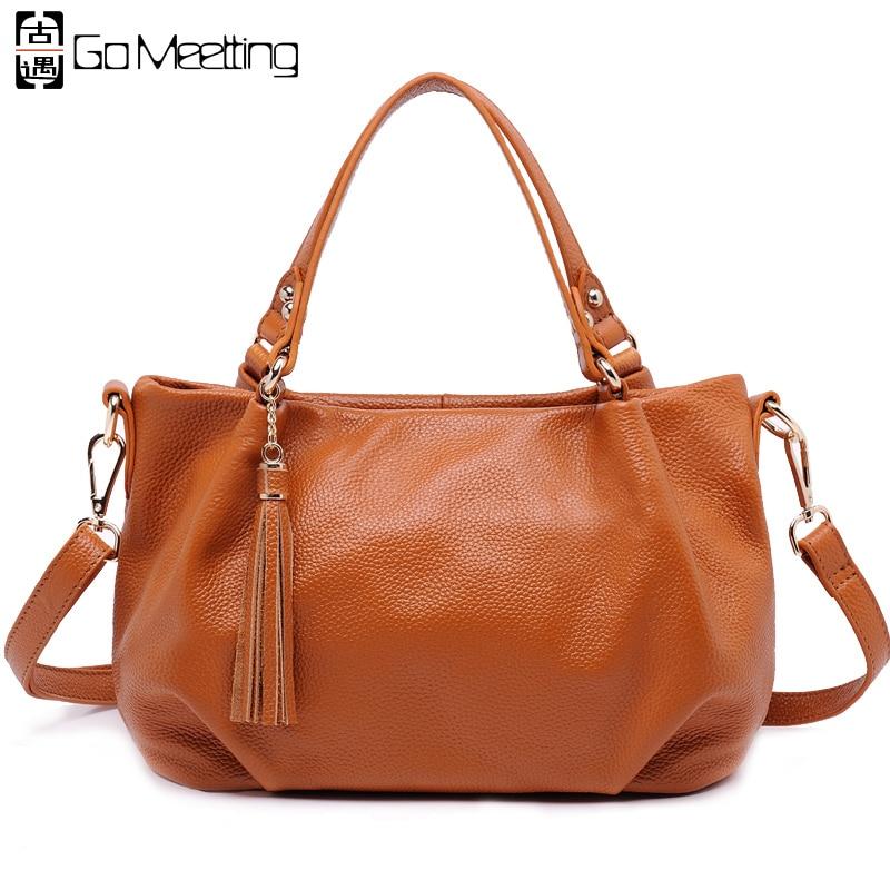 Go Meetting Genuine Leather Women Shoulder Bag High Quality Cow Leather Women's Handbags Brand Design Crossbody Messenger Bags женские часы go girl only go 694923