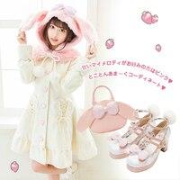 Prinses zoete lolita jas wollen jas preppy chic zoete slin pure kleur hooded kraag leuke en graceful jas HT022