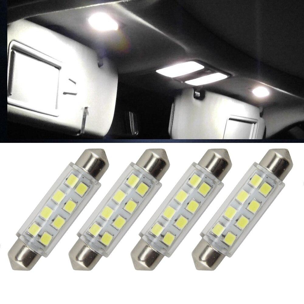 4x 44MM 8-SMD 5050 Festoon Dome Map Interior LED Light Bulbs Lamp For 6411 578 211-2 212-2 for Door Courtesy Side marker light