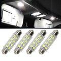 4x44 MM 8-SMD 5050 Festoon Dome Mapa Interior Lâmpadas LED lâmpada Para 6411 578 211-2 212-2 para luzes de Cortesia das Portas Lado marcador luz