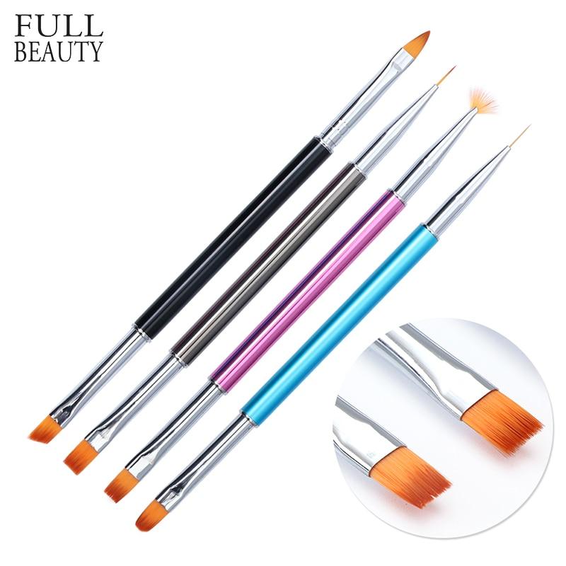 1pcs Double-Head Liner Brush Nail Art Acrylic Fan Drawing Paint Nail Pen Set UV Gel Extension Builder Nail Art Tips CHP06 nail art drawing