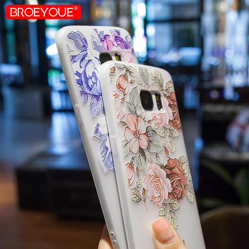 Чехол для samsung Galaxy A7 2018 A5 2017 S8 S9 S10 плюс S7 Edge Note 9 A9 A8 A6 плюс J4 J6 2018 M10 M20 матовый чехол для мобильного телефона из Цветочные покрытие стола