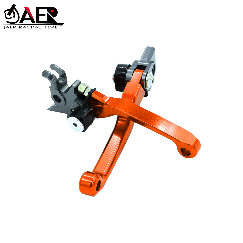 Image 2 - JAER Billet Pivot Foldable Brake Clutch Levers For KTM SX SXF EXC XC XCF  XCW 125 150 200 450 505 2009 2010 2011 2012 2013-in Levers, Ropes & Cables from Automobiles & Motorcycles