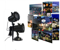 LED Image Projector Lights With 16 Replaceable Slides Night Lamp Christmas Projector Rotating LED Lawn Lamp