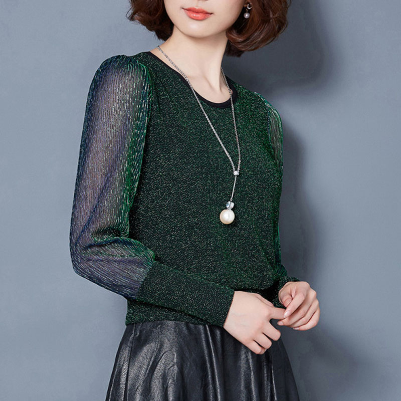 2018 Spring Summer women New lace shirt Plus size M-3XL blouse Autumn basic long sleeve shirts tops black green wine red 2