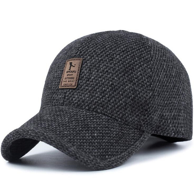 NEW 2018 Warm Winter spring Thickened Baseball Cap With Ears Men S Cotton  Hat Snapback Hats Ear 85538fd735c0