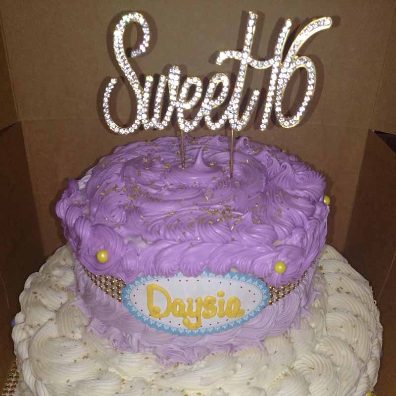 Us 4 24 15 Off Gold Silver Rhinestones Sweet 16 Cake Topper Boy Girl 16th Birthday Party Anniversary Decoration Favor Supplies In Party Diy
