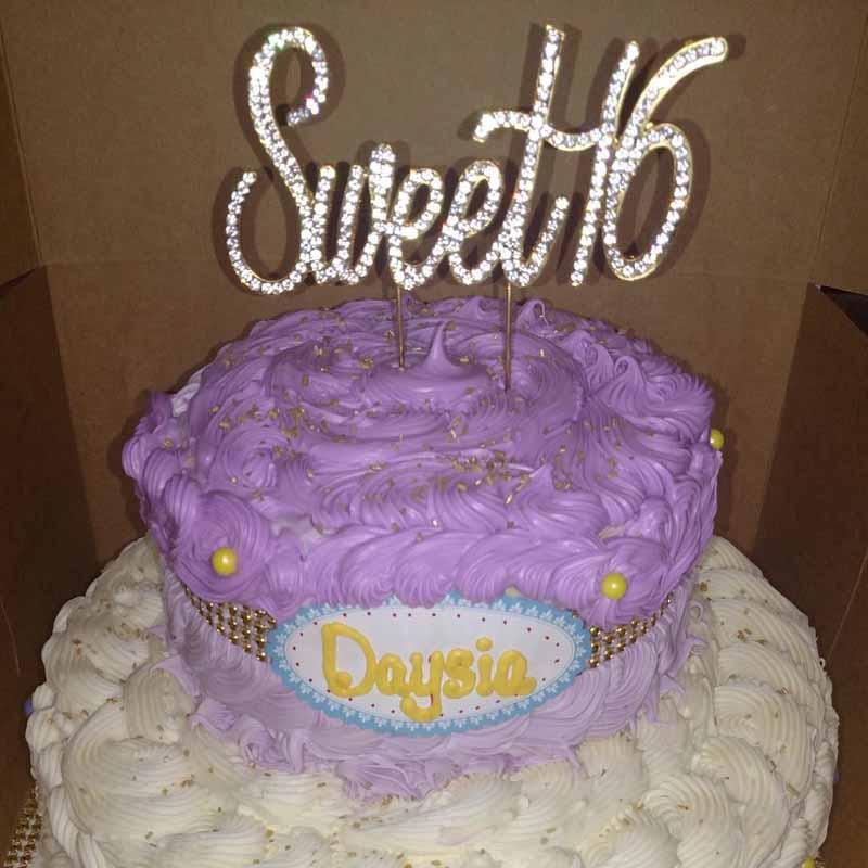 Enjoyable Gold Silver Rhinestones Sweet 16 Cake Topper Boy Girl 16Th Funny Birthday Cards Online Chimdamsfinfo