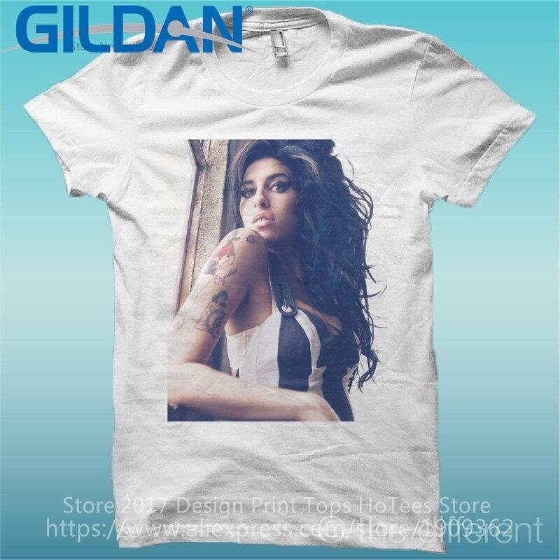 T-shirt 2017 nouvelles idées courtes Amy Winehouse hommes col rond à manches courtes t-shirts