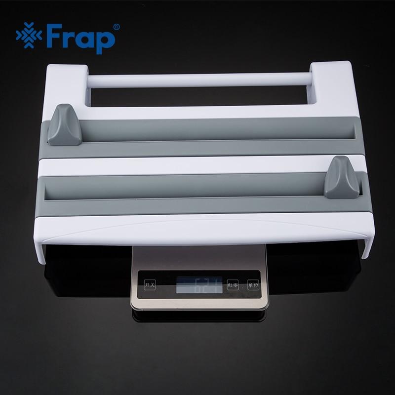 Frap Kitchen Racks Refrigerator Cling Film Storage Rack Wrap Cutter Wall Hanging Paper Towel Holder Kitchen Organizer Y14018/-1 5