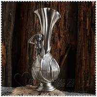 Fashion metal flower furnishings tinwares russia at home decoration vintage timpanums countertop small vase