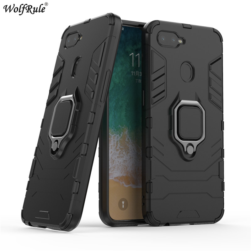 For Cover OPPO F9 Case OPPO A7X TPU & PC Ring Holder Armor Bumper Protective Back Phone Case For OPPO F9 Pro Cover 6.3''