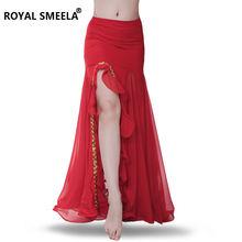 Новинка юбка для танца живота Сплит танец юбки с запахом пикантные