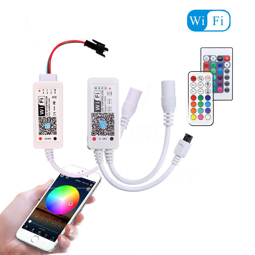 Magic Home WiFi Wi Fi Strip Controller Smart APP Amazon Alexa Google LED Pixel Remote Controller For 5050 RGB RGBW WS2812 WS2811