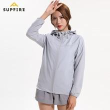 Supfire Sunscreen Wind Coat Running Jackets Women Windproof Sports Long Sleeve Jerseys Ultraviolet-proof Waterproof C014