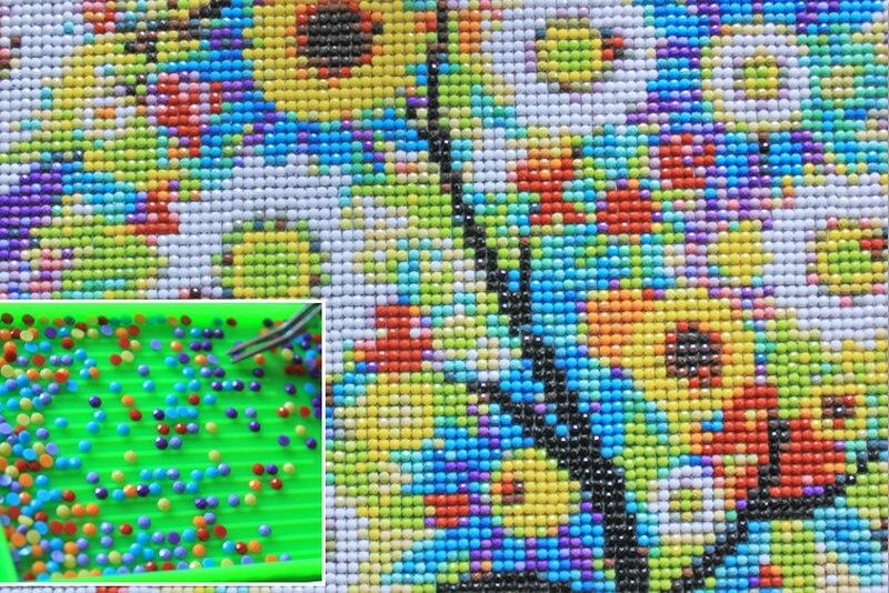 Diy Diamond Painting red bus stickers Full round Drill Diammond Mosaic Needlework Cross Stitch Diamond Embroidery pattern