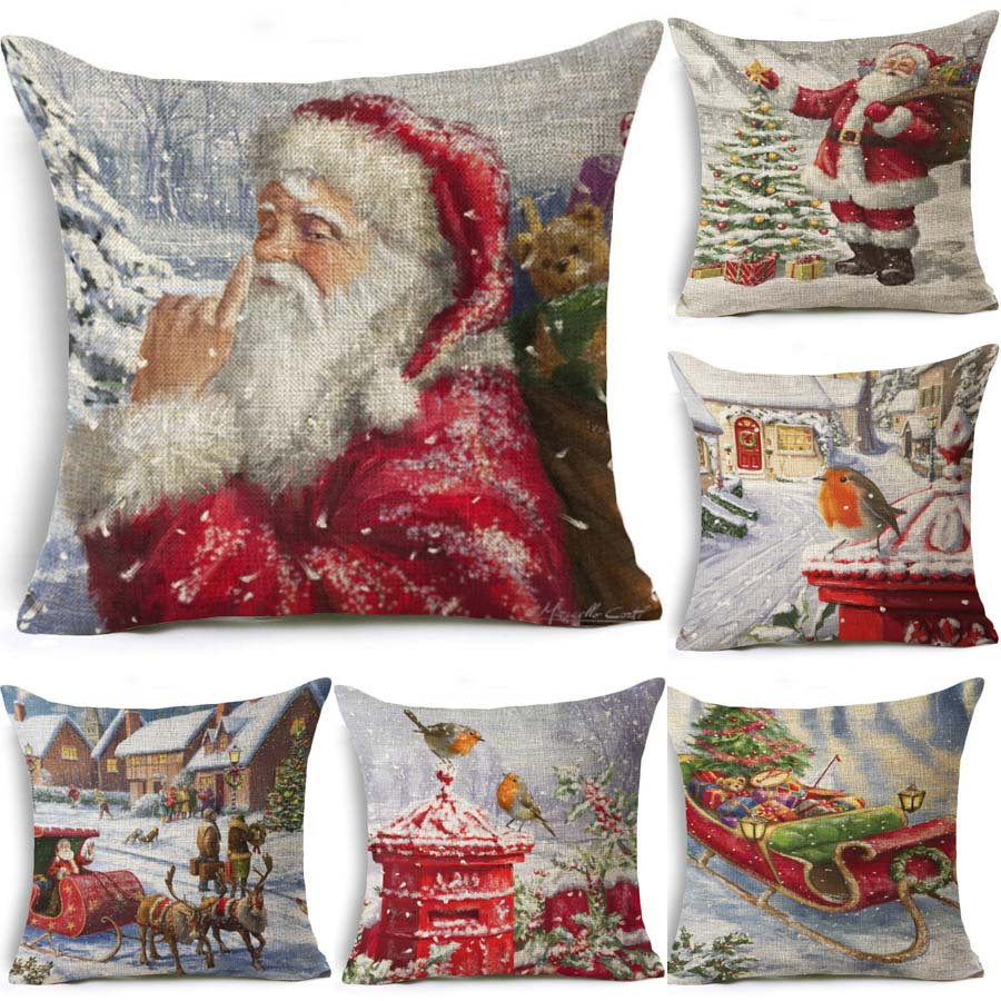 Online buy wholesale christmas cushion cover from china for Housse de coussin 55x55