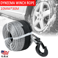 1PC Dyneema Synthetic Winch Rope With Hook Tow Recovery Cable Wire Car Winch Ropes For ATV UTV Tool