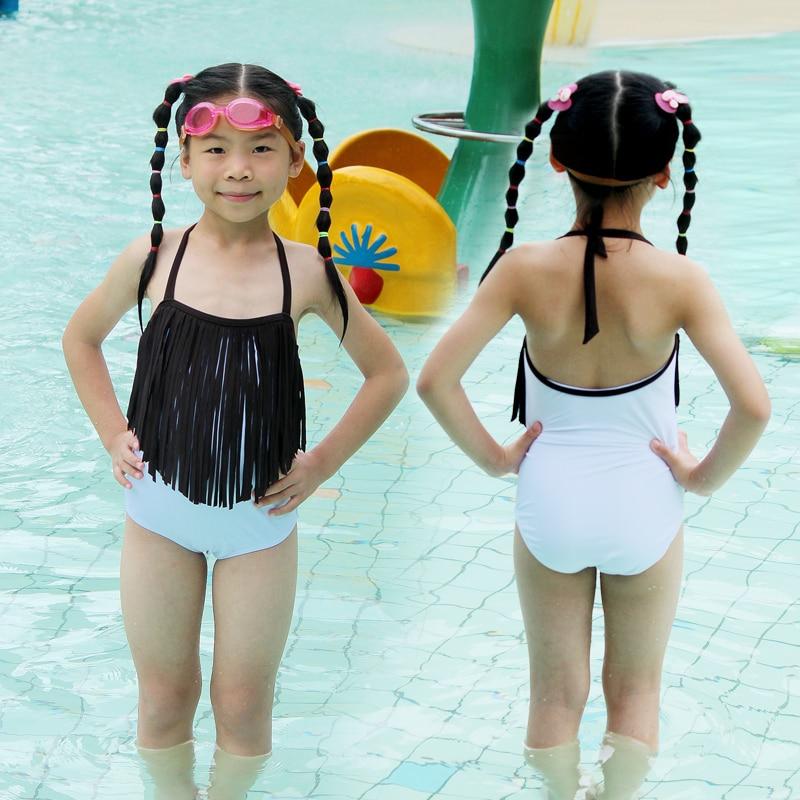 Aliexpresscom  Buy Little Kids Solid Tassel Swimwear -3065