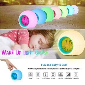 Round 7 Colors LED Alarm Clock